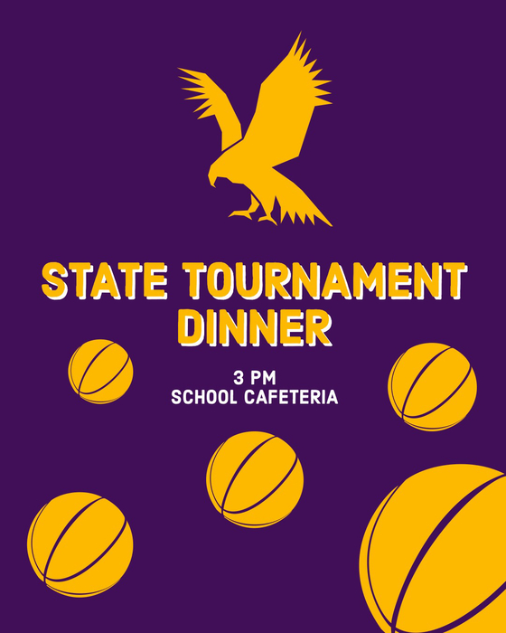 State tournament dinner