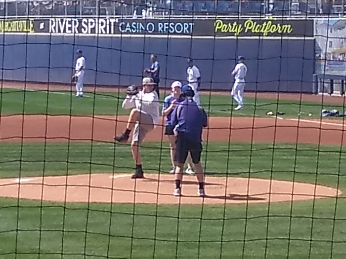 Trevor Lyons, first pitch