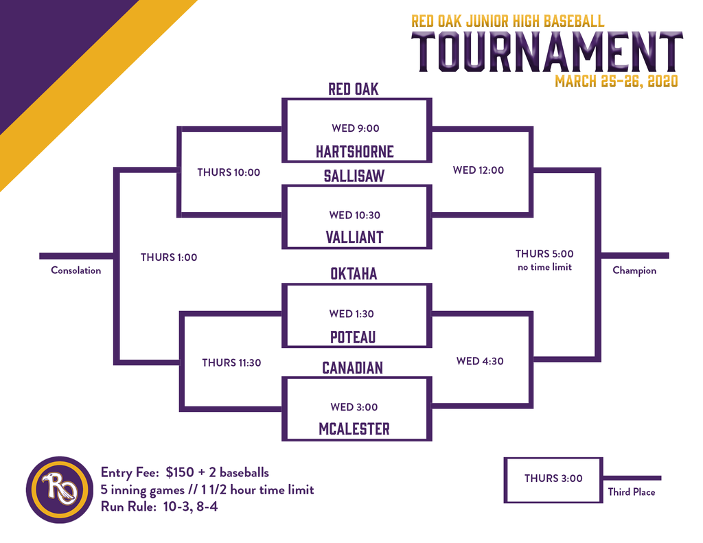2020 JH Baseball Tournament